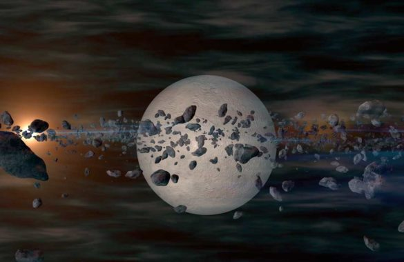 creative planète est astéroïdes en 3D animation