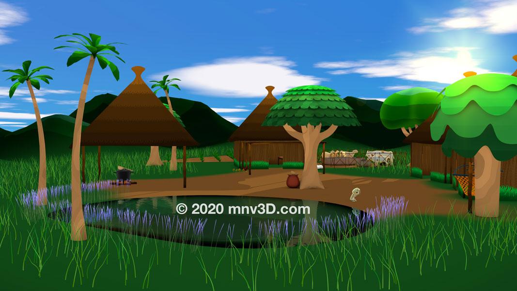 Dessin animé animation Dakar